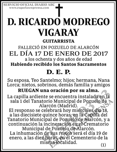 Ricardo Modrego Vigaray